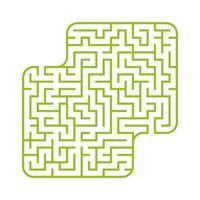 labirinto quadrado colorido. jogo para crianças. quebra-cabeça para crianças. enigma do labirinto. ilustração em vetor plana isolada no fundo branco. com lugar para sua imagem.