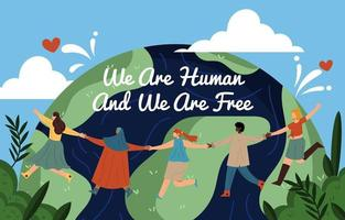 conceito do dia dos direitos humanos vetor