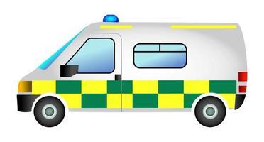 veículo de resgate de ambulância de emergência vetor