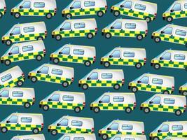 Papel de parede de veículo de resgate de ambulância de emergência vetor