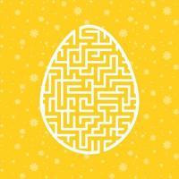 ovo de labirinto de cor. planilhas para crianças. página de atividades. jogo de quebra-cabeça para crianças. Feriado da Páscoa. enigma do labirinto. ilustração vetorial. vetor
