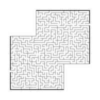 difícil labirinto quadrado grande. jogo para crianças e adultos. quebra-cabeça para crianças. enigma do labirinto. ilustração em vetor plana isolada no fundo branco.
