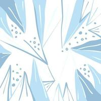 fundo de inverno vector com cacos de gelo abstratos e formas de bolha.