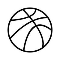Ícone de bola de cesta de vetor
