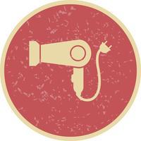 Ícone de vetor de secador de cabelo