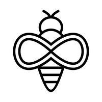 Ícone de vetor de abelha
