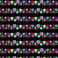 listra de flor mod em fundo preto vetor