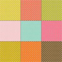 padrões de bolinhas brancas em fundos de cor retrô