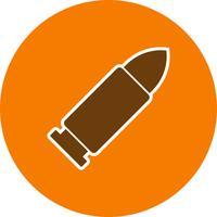 Ícone de vetor de bala