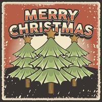 poster retro vintage feliz natal vetor