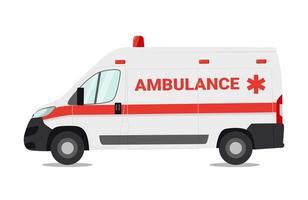 carro de emergência isolado no fundo branco, ilustração vetorial vetor