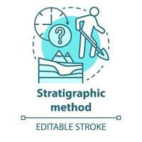 ícone do conceito de método estratigráfico vetor