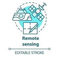 ícone do conceito de sensoriamento remoto vetor