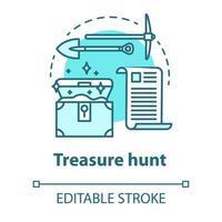 ícone do conceito de caça ao tesouro vetor