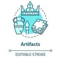 ícone de conceito de artefatos vetor