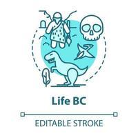ícone do conceito de vida bc vetor