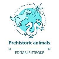 ícone do conceito de animais pré-históricos vetor