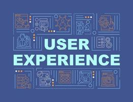 banner de conceitos de palavras de experiência do usuário vetor