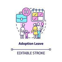 ícone do conceito de licença de adoção vetor