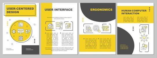 modelo de folheto de design centrado no usuário vetor