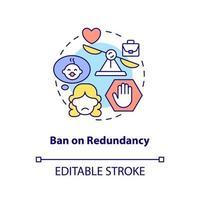 proibição de ícone de conceito de redundância vetor