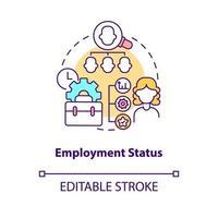 ícone de conceito de status de emprego vetor