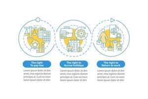 modelo de infográfico de vetor licença matrenidade direitos trabalhistas