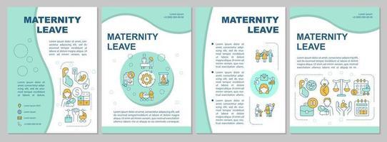 modelo de folheto de licença maternidade azul vetor