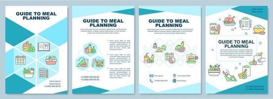 guia para modelo de folheto de planejamento de refeição vetor