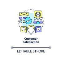 ícone do conceito de satisfação do cliente vetor