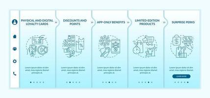 modelo de vetor de integração de ideias de programa de fidelidade para mercearia