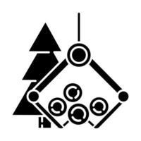 ícone de glifo da indústria madeireira vetor