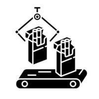 ícone de símbolo da indústria do tabaco vetor
