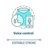 ícone de conceito turquesa de controle de voz vetor