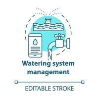 ícone de conceito turquesa de gerenciamento de sistema de irrigação vetor
