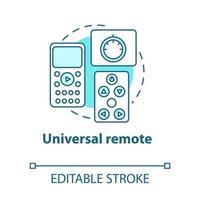 ícone de conceito universal remoto turquesa vetor