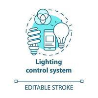 ícone do conceito turquesa do sistema de controle de iluminação vetor