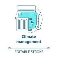 ícone do conceito turquesa de gerenciamento de clima vetor