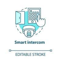 ícone de conceito turquesa de intercomunicação inteligente vetor