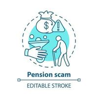 ícone de conceito de esquema de pensão vetor