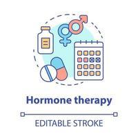 ícone do conceito de terapia hormonal vetor
