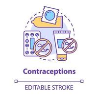 ícone do conceito de contracepção vetor