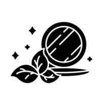 ícone de glifo de pó compacto compactado vetor