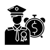 empréstimos para veteranos ícone de glifo vetor