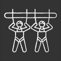 ícone de giz gigante da montanha vetor