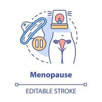 ícone do conceito de menopausa vetor