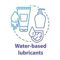 ícone do conceito azul de lubrificantes à base de água vetor