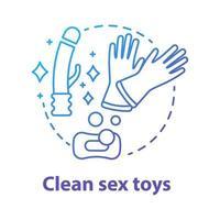 ícone de conceito azul de brinquedos sexuais limpos vetor