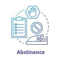 ícone do conceito azul de abstinência vetor