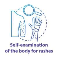 ícone de conceito azul de autoexame corporal vetor